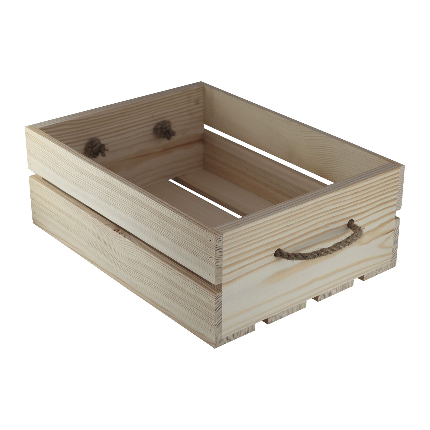 Wooden tray with twine handles TA005